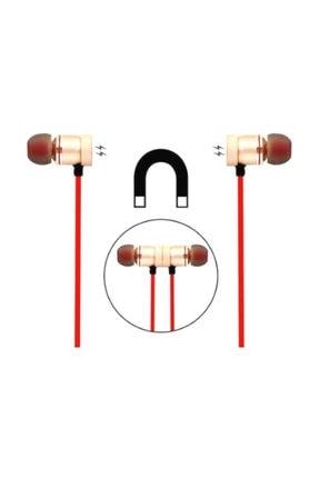Platoon Mıknatıslı Mikrofonlu Kırmızı Bluetooth Spor Kulaklık