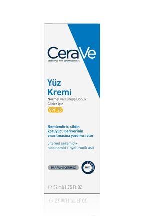 CeraVe Nemlendirici Yüz Kremi Normal Ve Kuru Ciltler Güneş Koruması Içeren 52 ml
