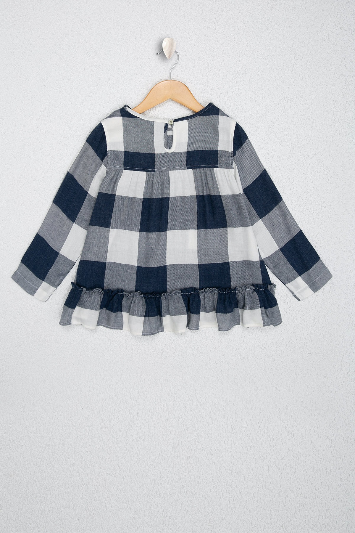 U.S. Polo Assn. Lacivert Kız Çocuk Dokuma Gömlek 2
