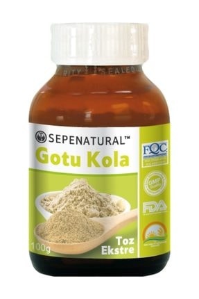 Sepe Natural Gotu Kola Extract Gotu Kola Toz Ekstrakt Ekstresi 100 Gr