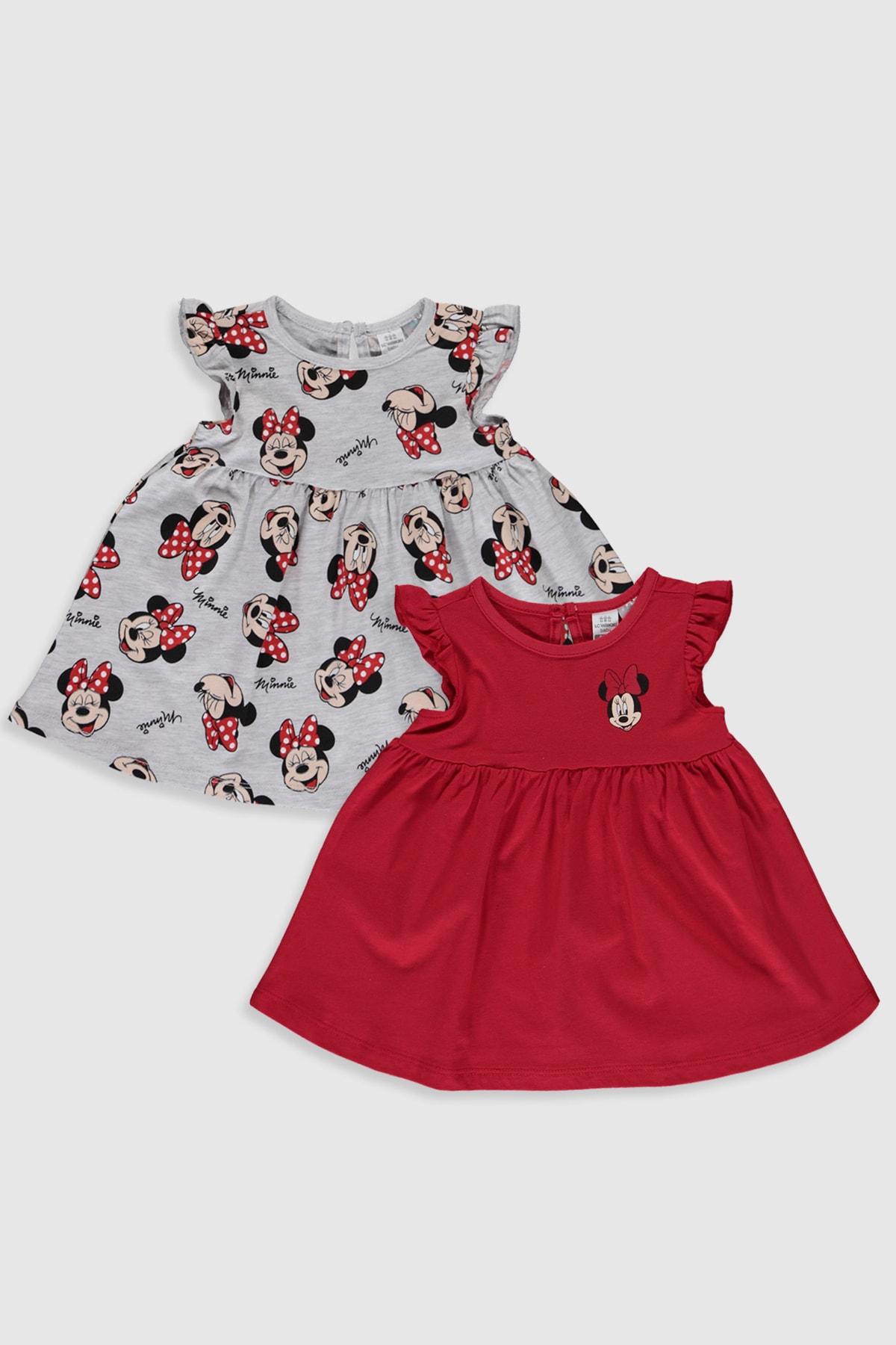 LC Waikiki Minnie Mouse Kız Bebek Canlı Kırmızı Hc3 Bebek Takımları 1