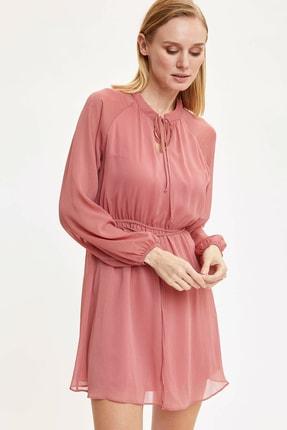 DeFacto Kadın Pembe Dokuma Elbise N7172AZ.20SP.PN188