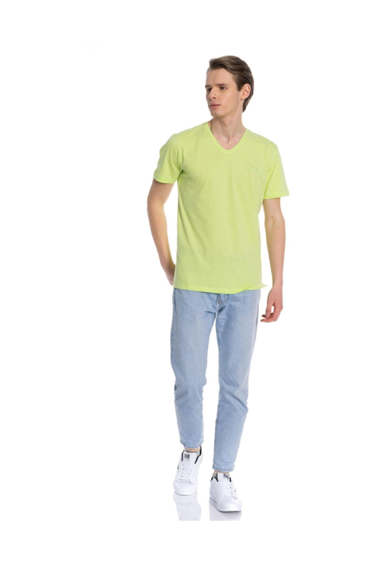 Slazenger SARGON Yeşil Erkek Kısa Kol Tişört 100788303 2