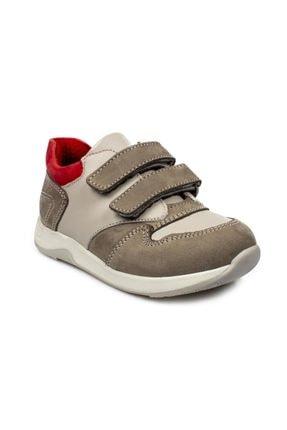 Toddler 6102 B Çift Cırt Bebe Gri Çocuk Ayakkabı