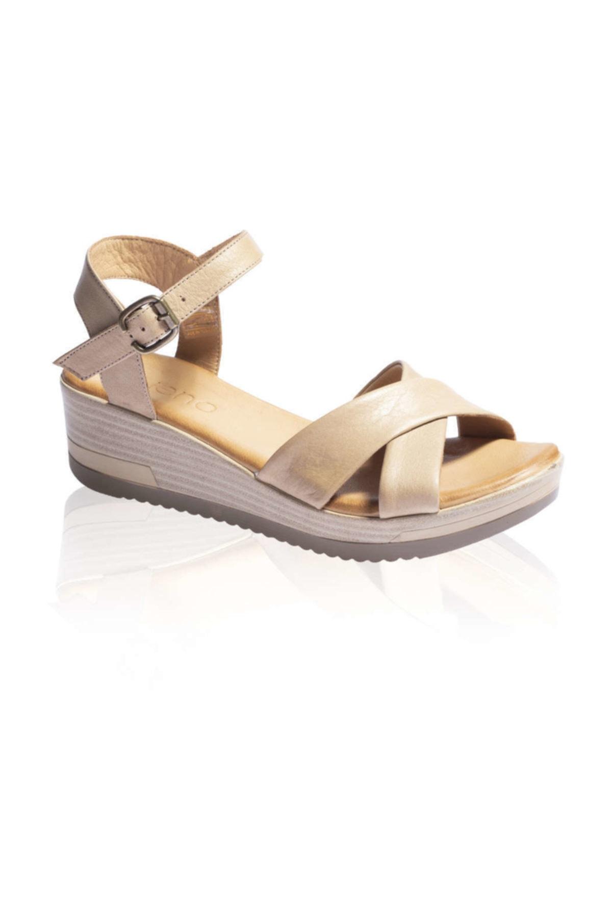 BUENO Shoes Lacivert Bayan Sandalet 9l3303 1