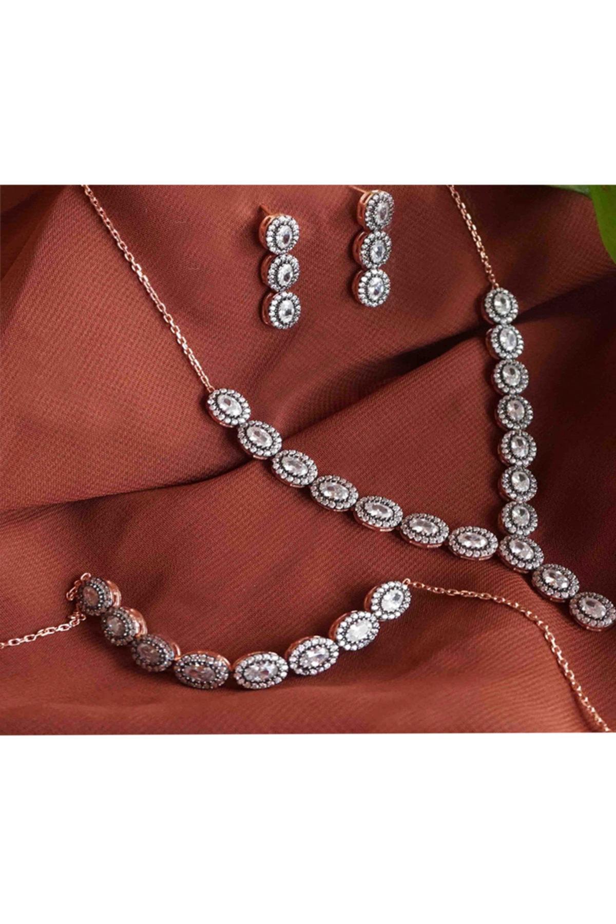 Diamante Elmas Montür Su Yolu Üçlü Set 1