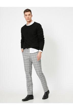 Koton Erkek Cep Detayli Kareli Rahat Kesim Pantolon