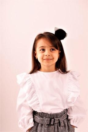 hoQuspoQus Kız Çocuk Gömlek (fırfır Detaylı)