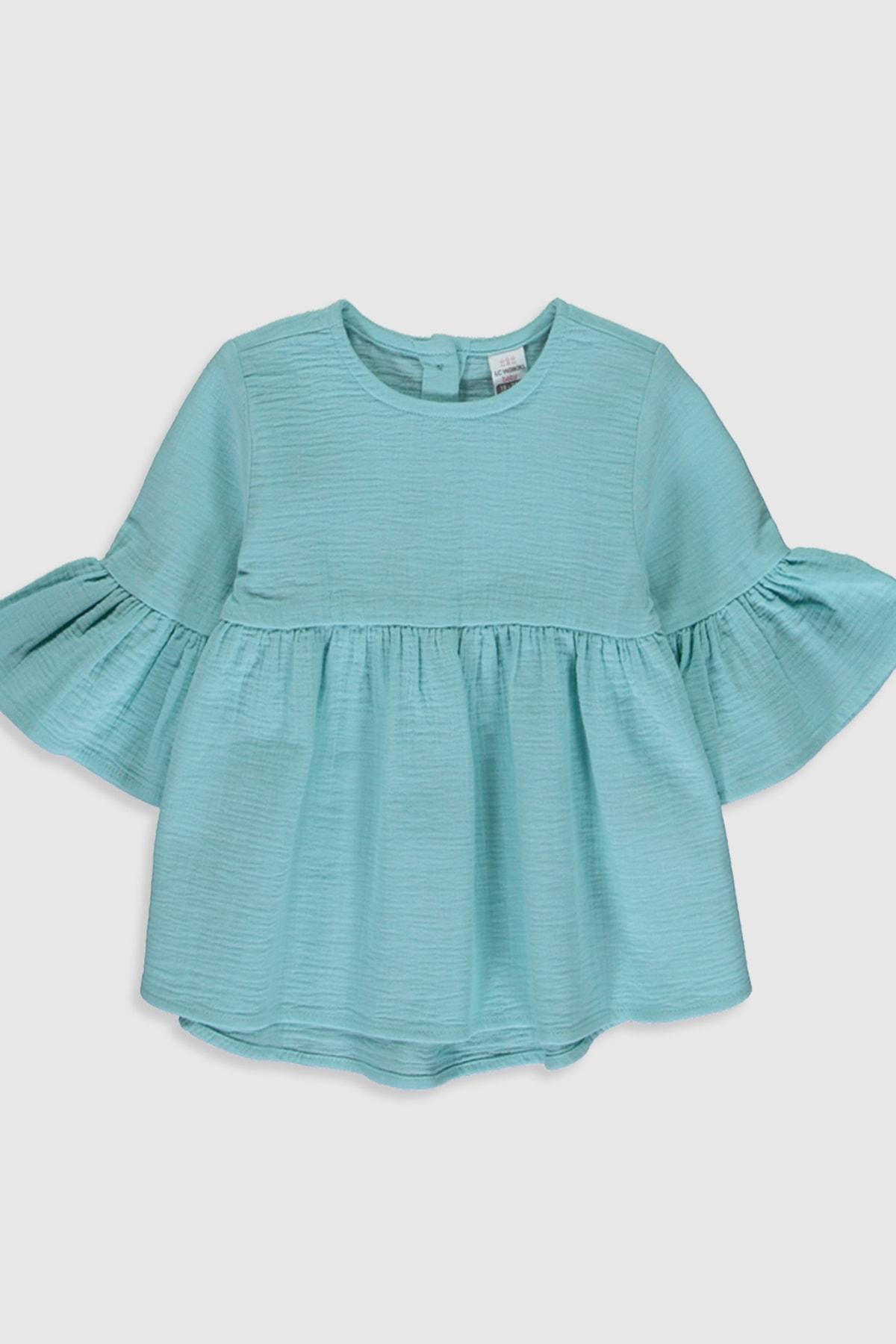 LC Waikiki Kız Bebek Mat Turkuaz Fjj Bluz 1
