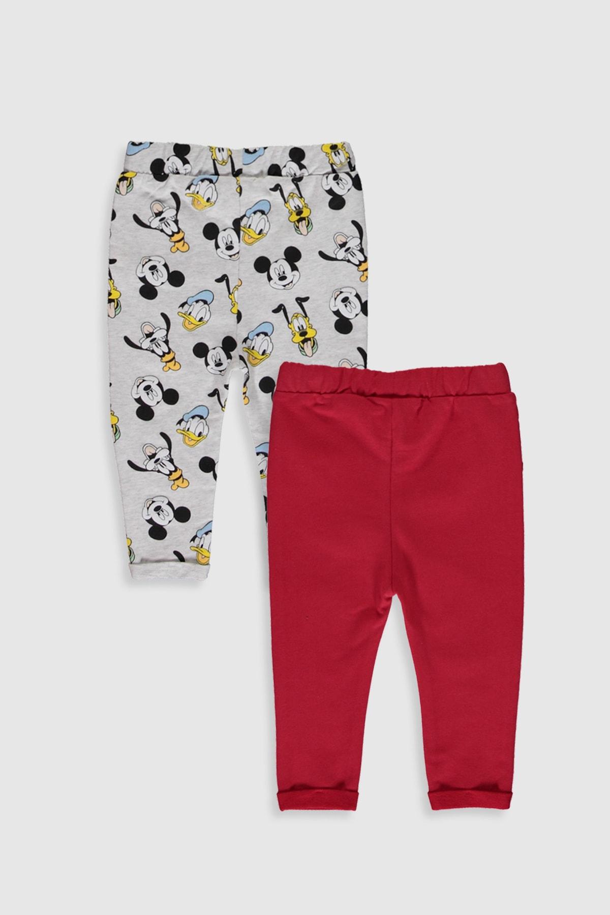 LC Waikiki Mickey Mouse Erkek Bebek Kırmızı Hpf Bebek Takımları 2