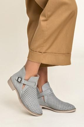 Elle Shoes MAJA Hakiki Deri Gri Kadın Bot