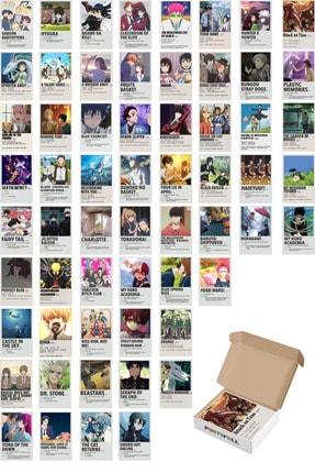 Postifull Anime Duvar Poster Seti - Poster Kolaj Seti - 60 Adet - Kalın Kuşe Kağıt - 10cm*14cm - Kutulu Set