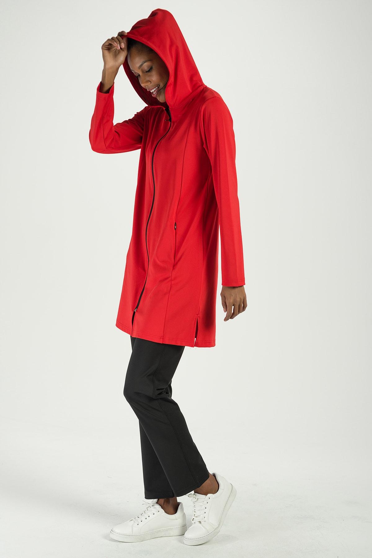 Runever Kadın Kırmızı Eşofman Takımı 2