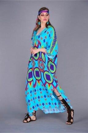 ZTO Bohem Asterisk Yırtmaç Detay Elbise