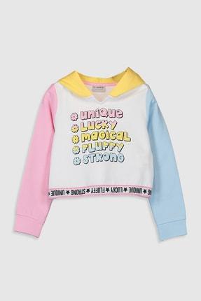 LC Waikiki Kız Çocuk Optik Beyaz E5X Sweatshirt