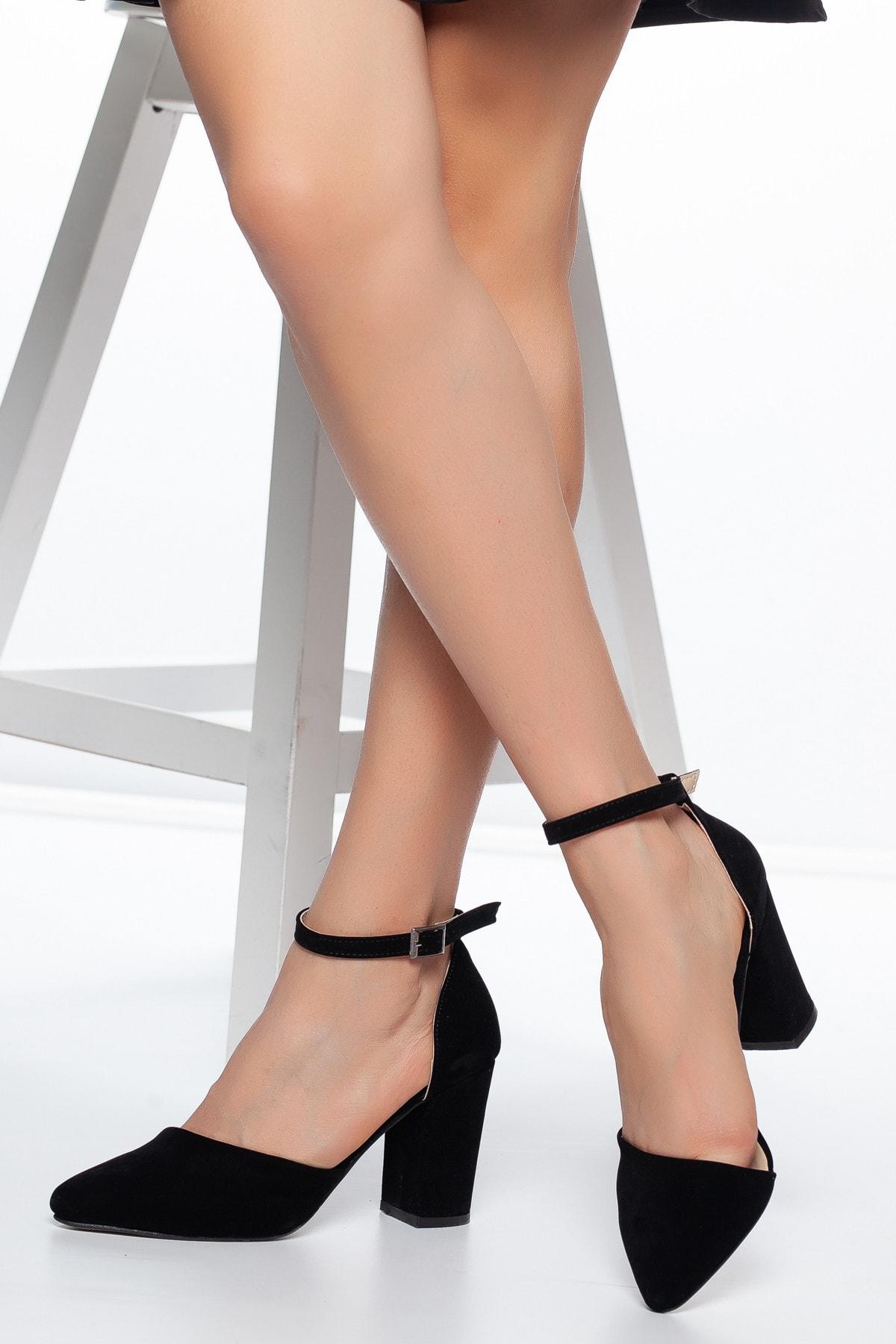 Daxtors Siyah-Süet Kadın Ayakkabı DXTRSKRNYRKY002 2