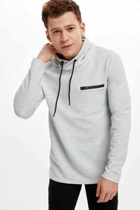 DeFacto Erkek Gri Regular Fit Sweatshirt R0703AZ.20SP.GR387