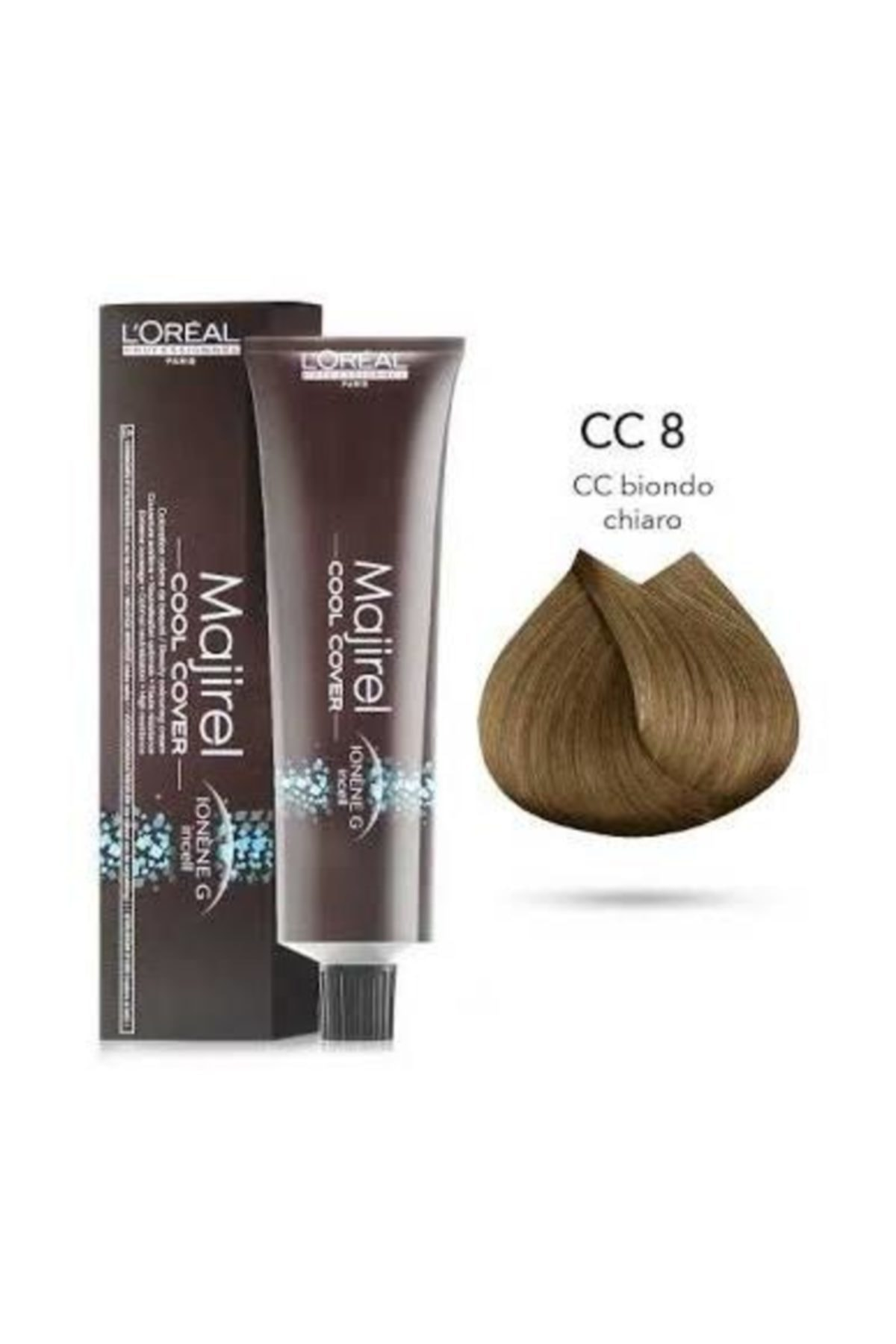 L'oreal Professionnel Majirel Cool Cover Yoğun Beyaz Kapatıcı Saç Boyası 8 Koyu Sarı 50ml 1