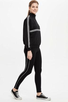 DeFacto Kadın Siyah Slim Fit Şerit Detaylı Tayt M9859AZ.20SP.BK27