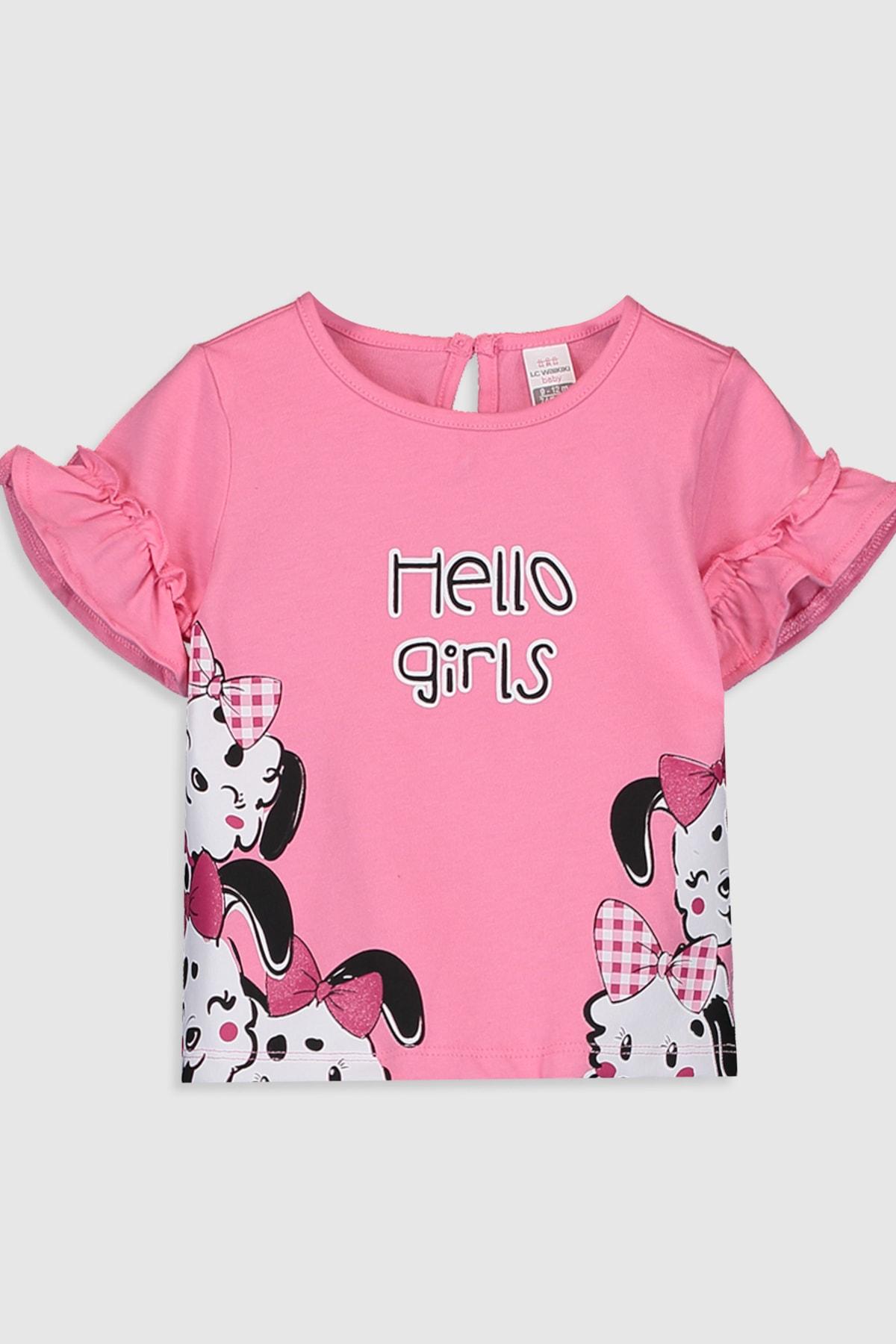 LC Waikiki Kız Bebek Pembe Gfu T-Shirt 1
