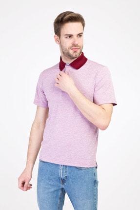 Kiğılı Erkek Scarlet Kırmızısı Polo Yaka Regular Fit Desenli Tişört