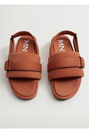 MANGO Woman Cırt Cırtlı Dolgulu Sandalet
