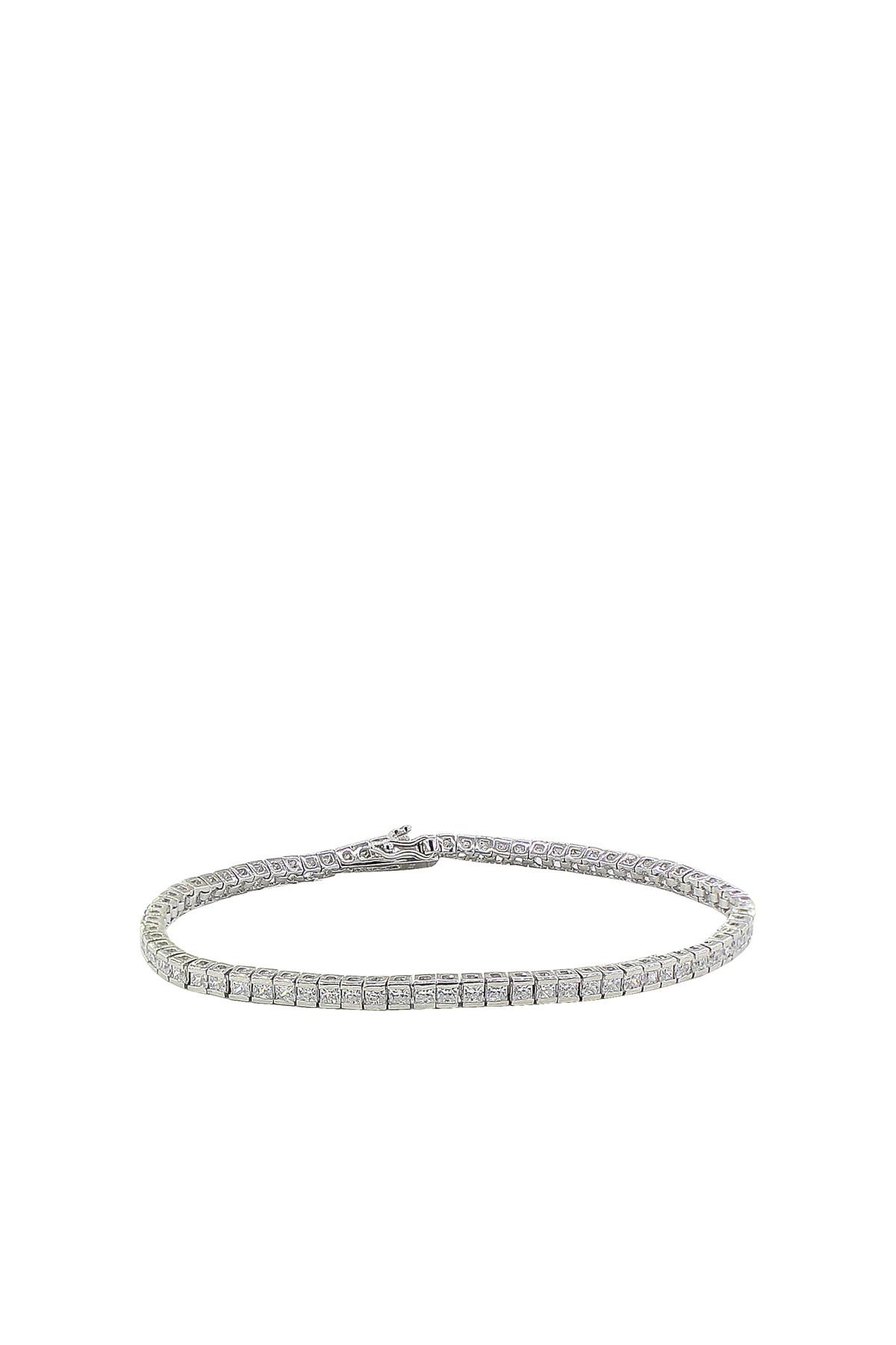Söğütlü Silver Kadın 925 Ayar Gümüş Rodyumlu Su Yolu Bileklik SGTL2736 1