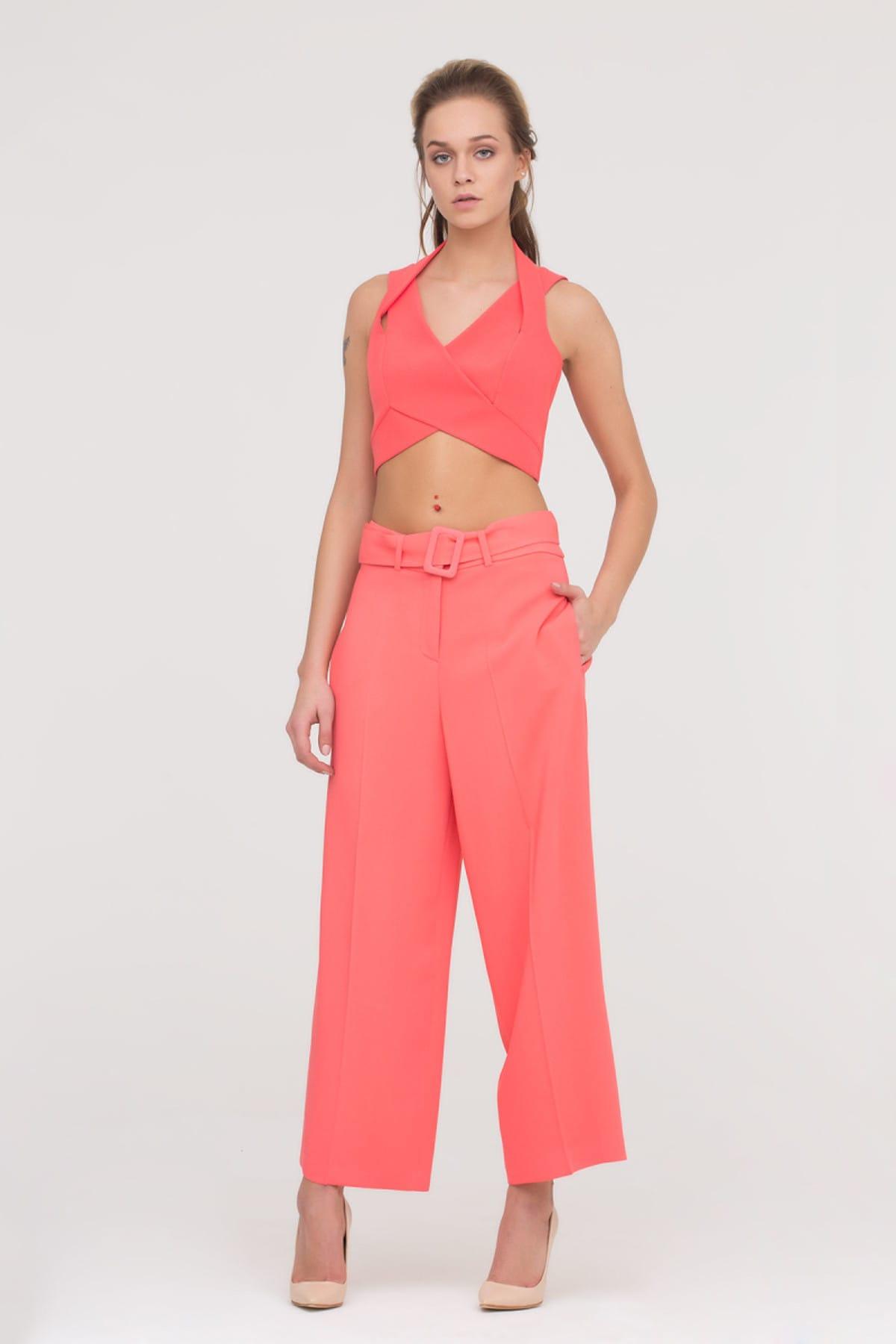 GİZİA Kadın Papaya Rengi Bol Kesim Pantolon M17Y1Y01711TV 1
