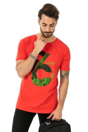 Sateen Men Erkek Kırmızı Baskılı T-Shirt 158-3440 158-3440