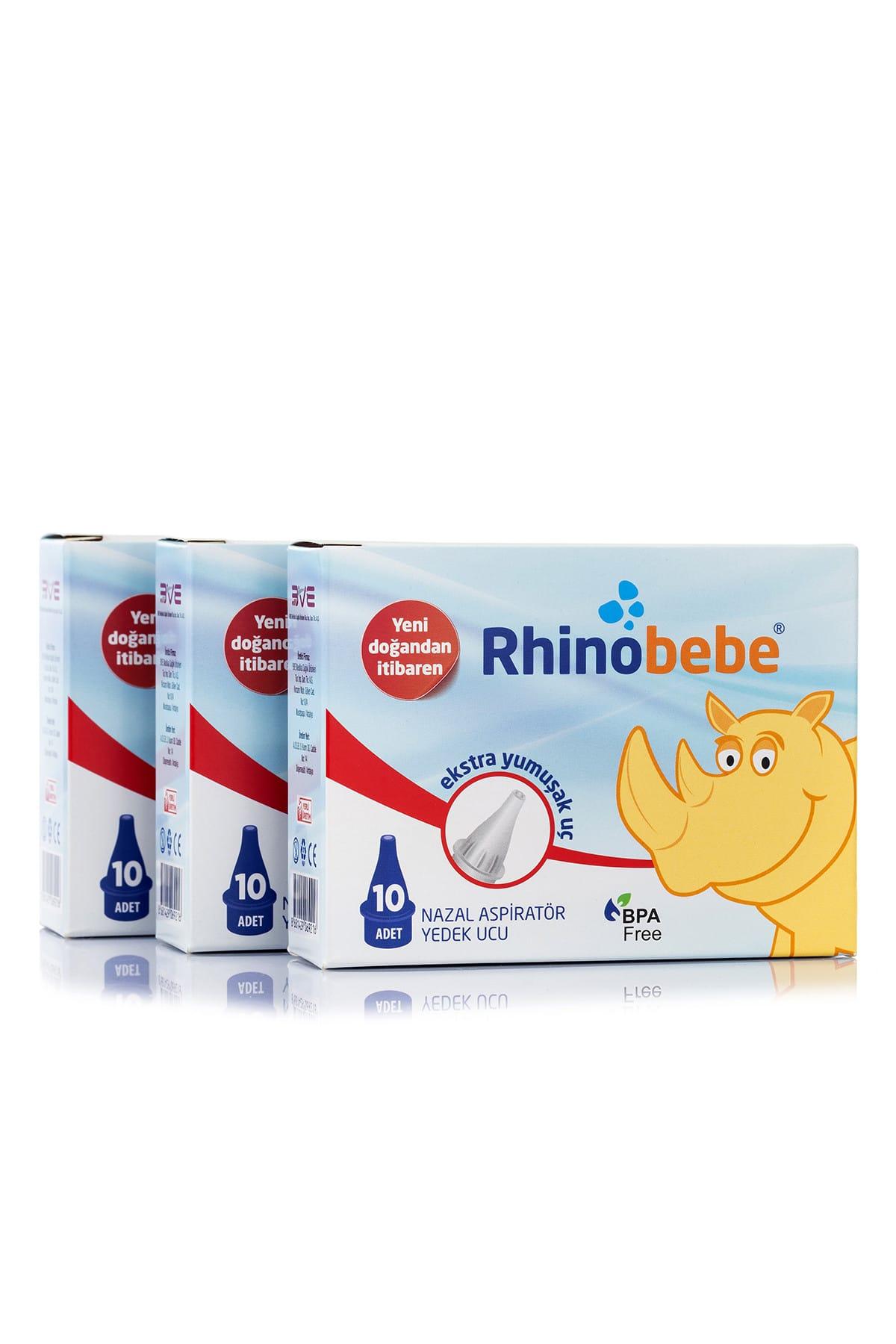 Rhinobebe Bebek Burun Aspiratörü Yedek Uç 3 Paket 1