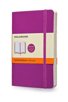 Moleskine 3647 Large Soft Purple Ruled Defter Mor /