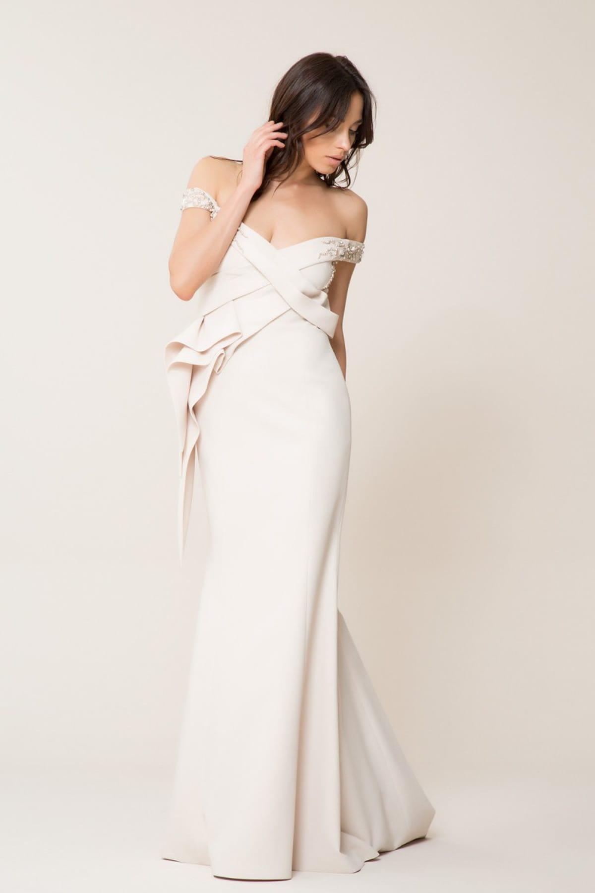 GİZİA Kadın Düşük Yaka Uzun Elbise M18Y5W07213CF 2
