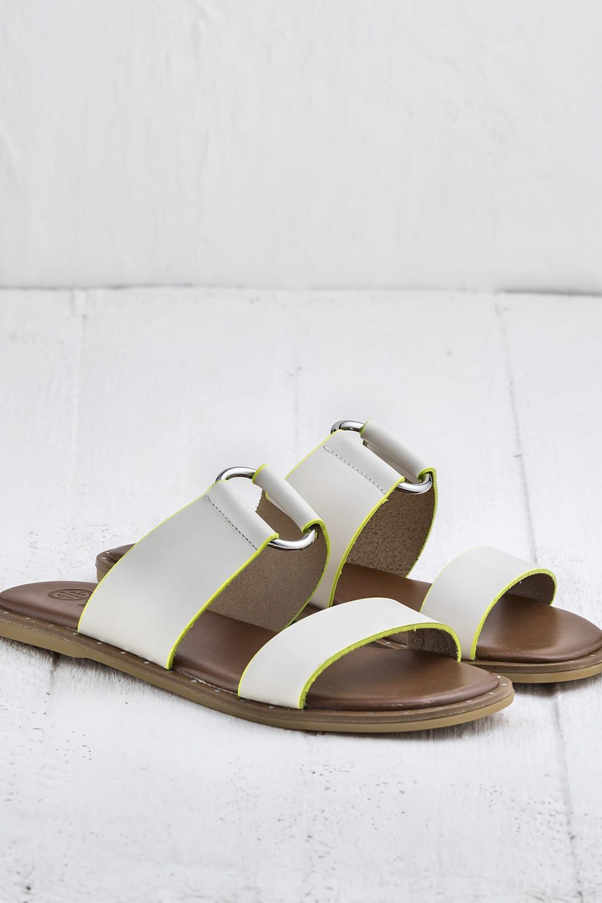 Elle Shoes BRYONY Beyaz Kadın Terlik 2