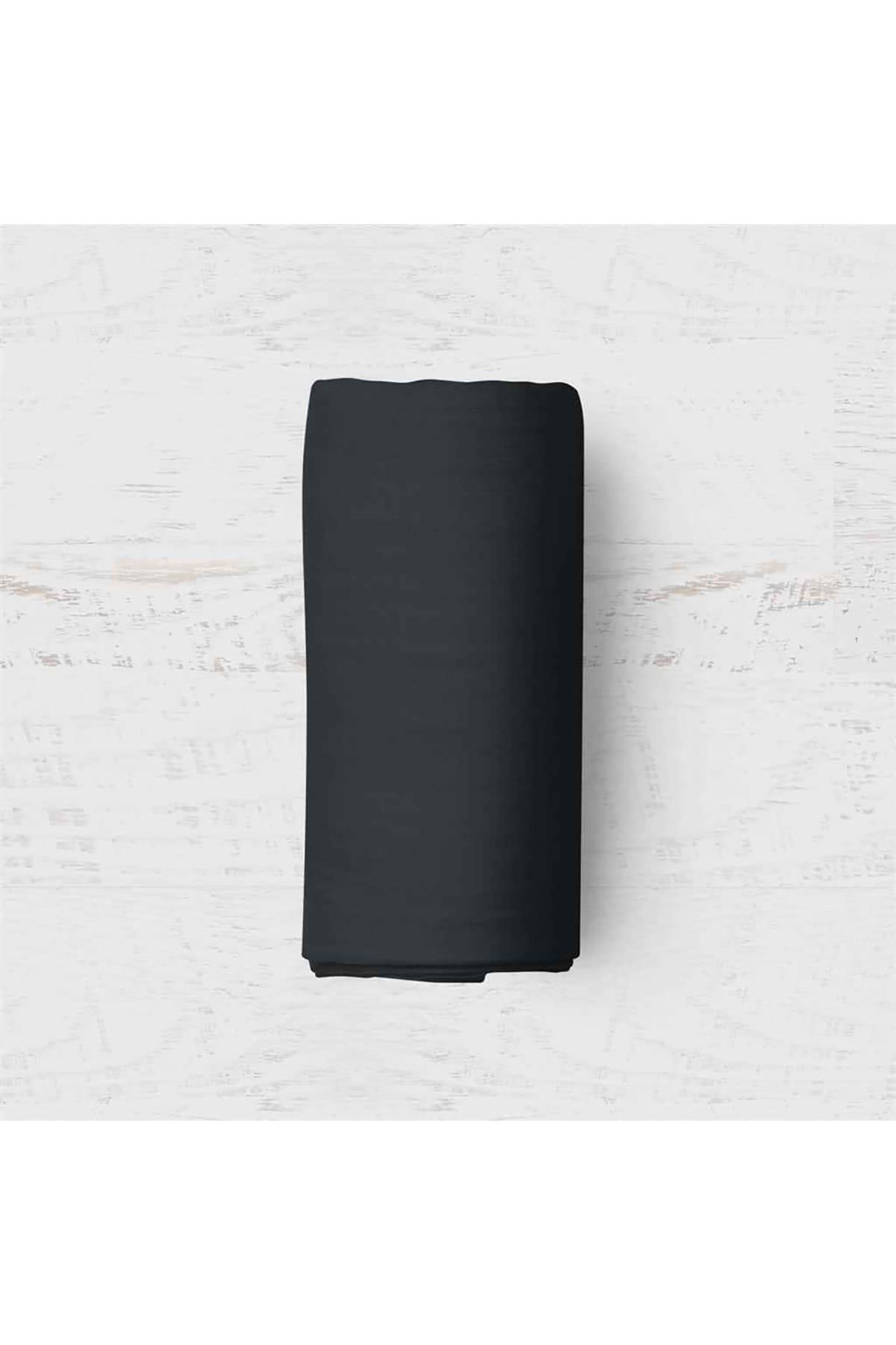 Maki Siyah Battal Boy 200x200 Lastikli Çarşaf Takımı 1