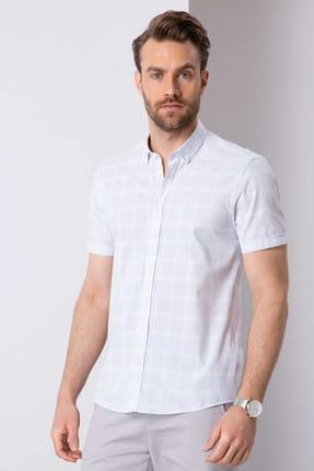 Pierre Cardin Erkek Açık Mavi Slim Fit Kısakol Gömlek G021GL004.000.770903