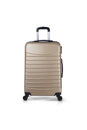 Troya Bags Gold Unisex Orta Boy Valiz TR1622