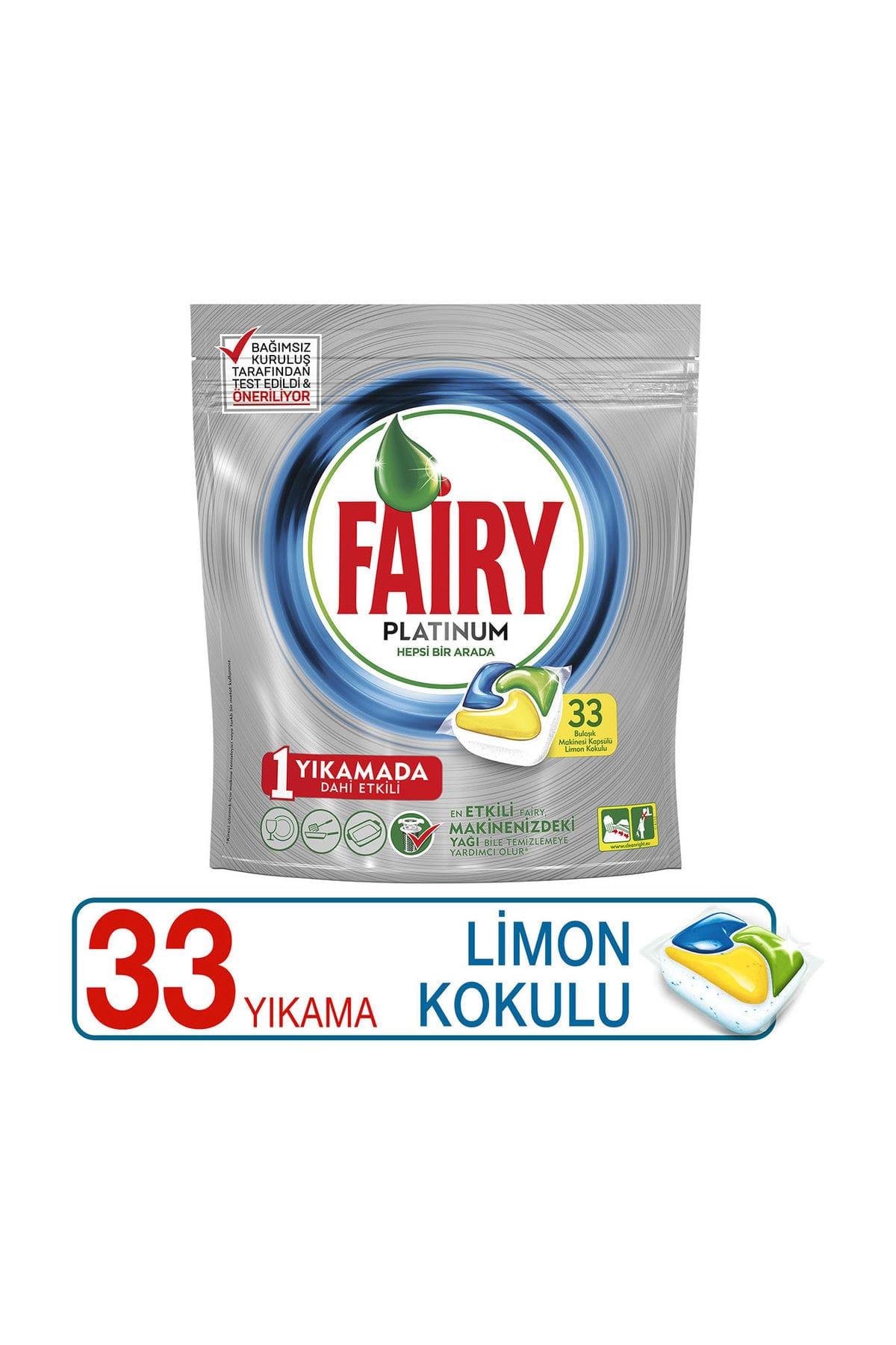 Fairy Bulaşık Makinesi Deterjanı Kapsülü Platinum Limon Kokulu 33 Yıkama 1