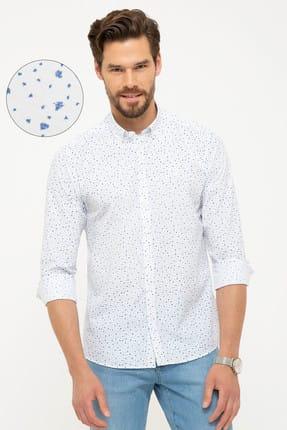 Pierre Cardin Erkek Beyaz Slim Fit Gömlek G021GL004.000.880360