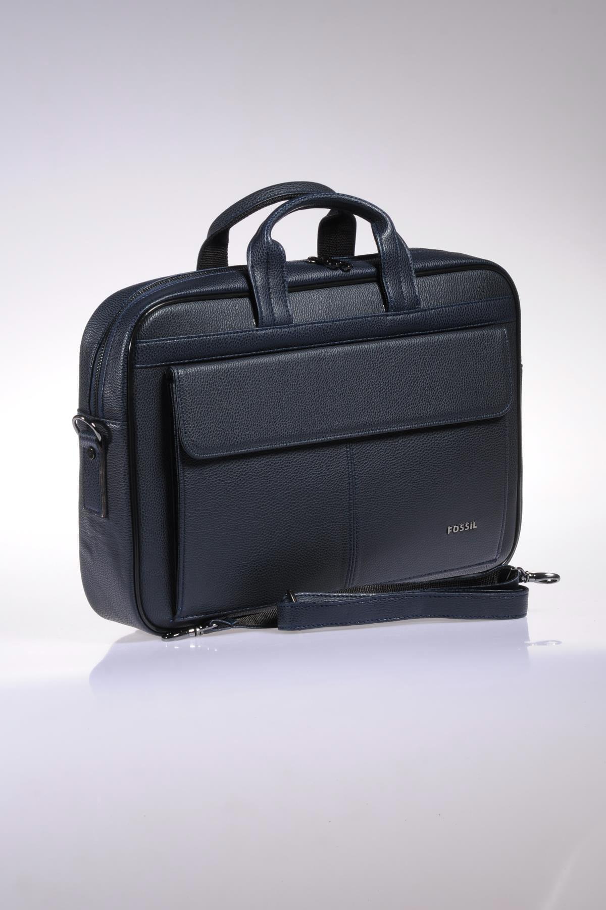 Fossil Lacivert Unisex Laptop & Evrak Çantası 8690027118073 2
