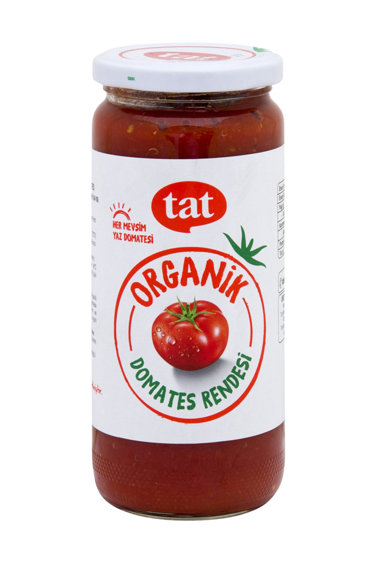 Tat Organik Dogranmış Domates 460 g 1