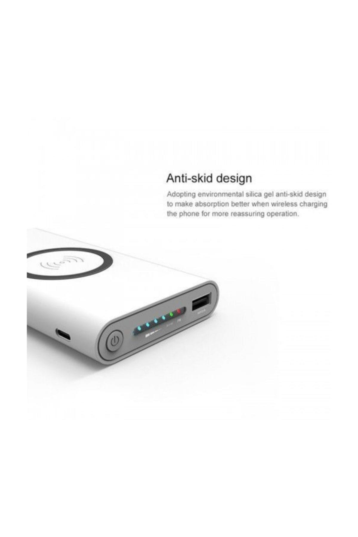 PROTECH Pro B10 Kablosuz Powerbank Taşınabilir Şarj Cihazı 10000 Mah Beyaz 2