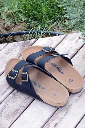 Pembe Potin Siyah Erkek Sandalet A5152-19