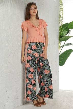 GİZZEY Kadın Peach Pantolon Takım