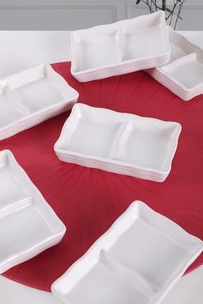 Keramika Mat Beyaz Deva Çerezlik 13 Cm 6 Adet