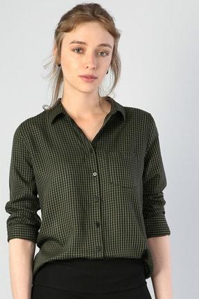Colin's KADIN Haki Uzun Kol Kadın Gömlek CL1041198