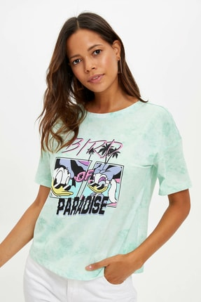 DeFacto Kadın Mor Walt Disney Lisanslı T-shirt L9756AZ.19HS.PR30