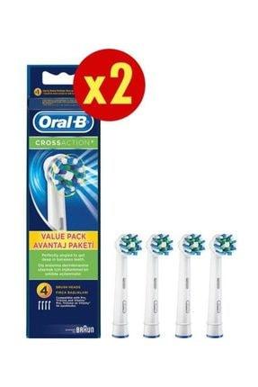 Oral-B Diş Fırçası Yedek Başlığı Cross Action 4X2 Adet