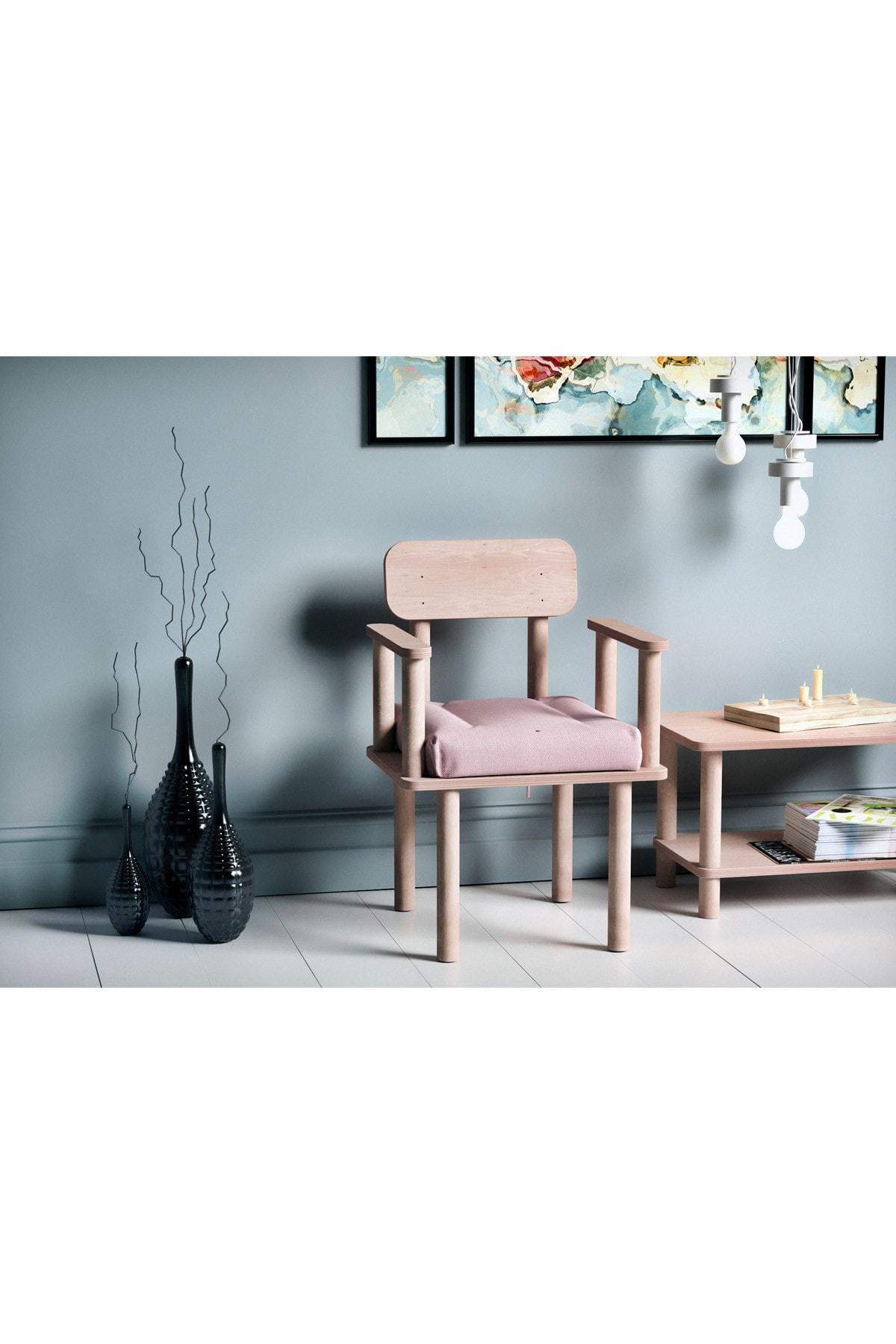 VUDIVA Magnesia Kolçaklı Sandalye Pembe