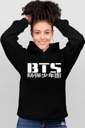 Rock & Roll BTS Siyah Kapşonlu Kadın Sweatshirt