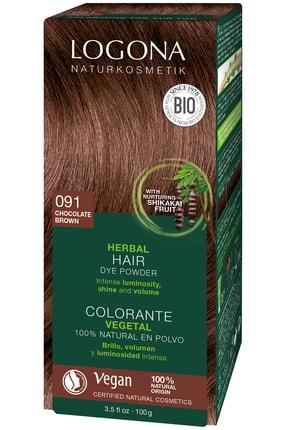 Logona Bitkisel Toz Saç Boyası - 091 Çikolata 100 g